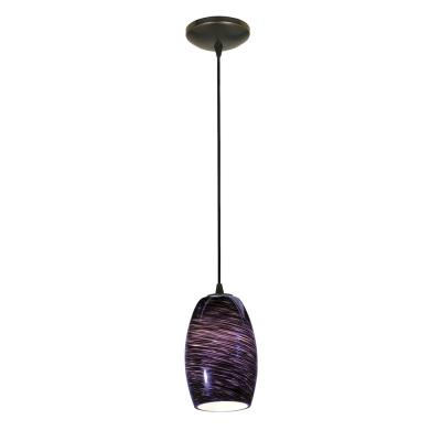 Access Lighting 28078-2C-ORB/PLS Tali - One Light Cone Pendant (Cord Hung)
