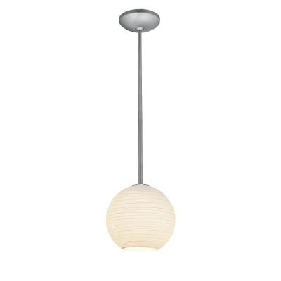 Access Lighting 28087-1R-BS/WHTLN Lantern - One Light Pendant