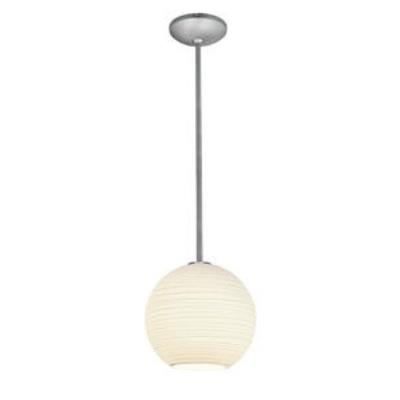 Access Lighting 28088-1C-BS/WHTLN Lantern - One Light Pendant (Cord Hung)