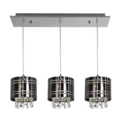 Access Lighting 50971-CH/BL Kalista - Three Light Bar Pendant with Crystal Drop