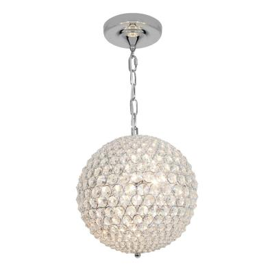 Access Lighting 51007-CH/CCL Kristal - Three Light Chain Hung Ball Pendant