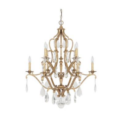 Capital Lighting 4180AG-CR Blakely - Ten Light 2-Tier Chandelier