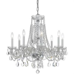 Traditional Crystal - Eight Light Chandelier