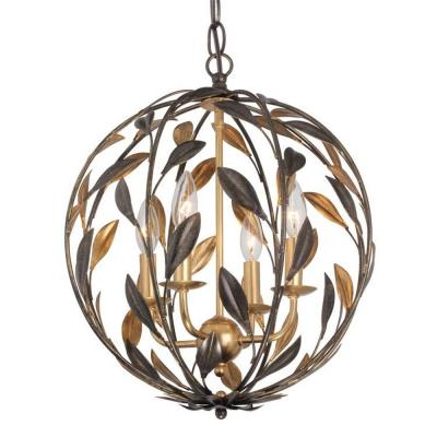 Crystorama Lighting 504 Broche - Four Light Chandelier