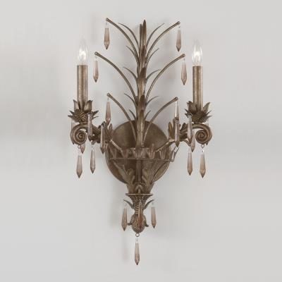Crystorama Lighting 9322-GB Athena - Two Light Wall Sconce