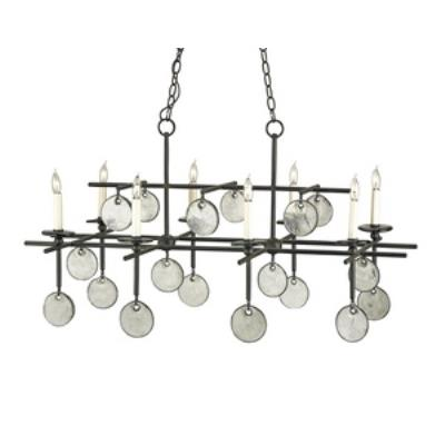 Currey and Company 9124 Sethos - Eight Light Rectangular Chandelier