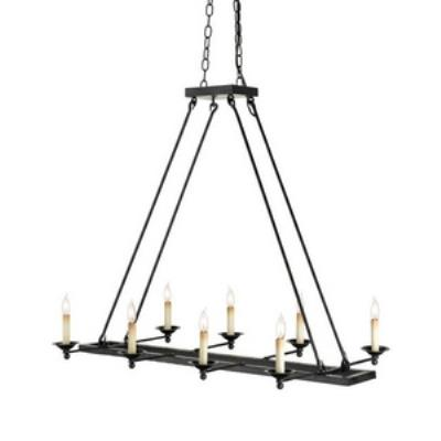 Currey and Company 9816 Houndslow - Eight Light Rectangular Chandelier