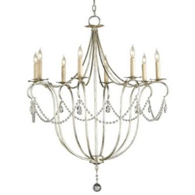 Currey and Company 9891 Crystal - Eight Light Large Chandelier