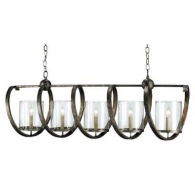 Currey and Company 9915 Maximus - Five Light Rectangular Chandelier