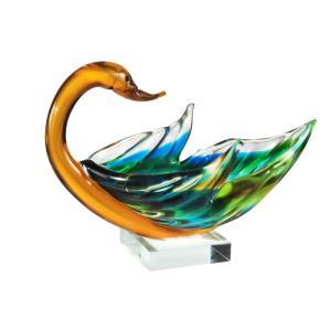 """9.5"""" Swan Bowl Sculpture"""