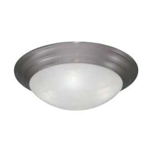 4 Light Flush Mount With Alabaster Glass Shade