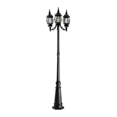 Designers Fountain 1923-BK Hacienda - Three Light Outdoor Post Lantern