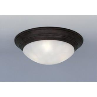 Designers Fountain 1245L 3 Light Flush Mount With Alabaster Glass Shade