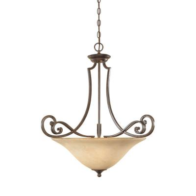 Designers Fountain 81831-FSN 3-Light Inverted Pendant