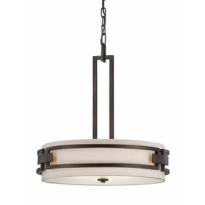 Designers Fountain 83831-FBZ Del Ray - Three Light Inverted Pendant
