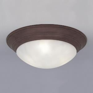 1 Light Flush Mount With Alabaster Glass Shade