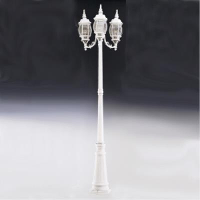 Designers Fountain 1923-WH Riviera- Three Light Outdoor Post Lantern