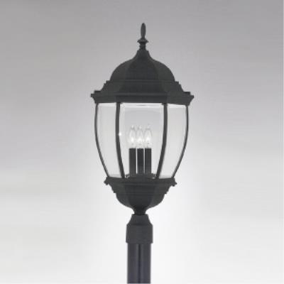 Designers Fountain 2446-BK Triverton - Three Light Outdoor Post Lantern