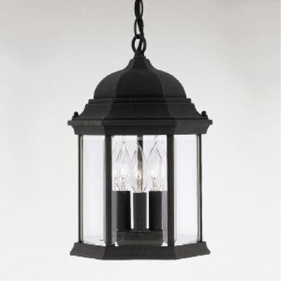 Designers Fountain 2984-BK Devonshire - Three Light Outdoor Hanging Lantern