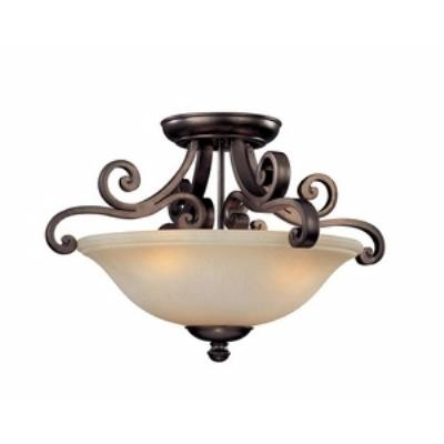 Dolan Lighting 1085-207 Brittany - Three Light Semi-Flush Mount