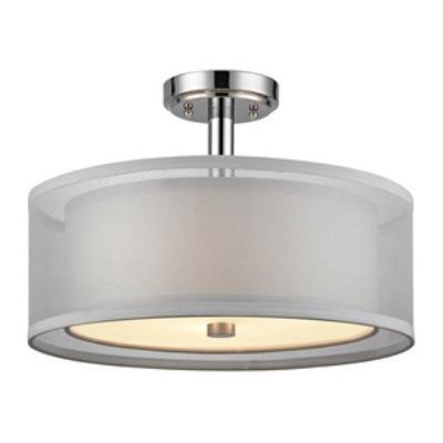 Dolan Lighting 1275-26 Three Light Semi-Flush Mount
