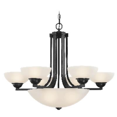 Dolan Lighting 205-46 Fireside - Nine Light Bowl Chandelier