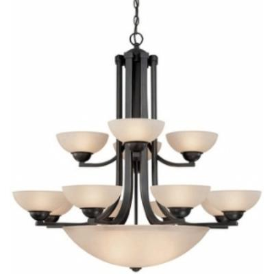 Dolan Lighting 206-78 Fireside - Fifteen Light Two Tier Chandelier