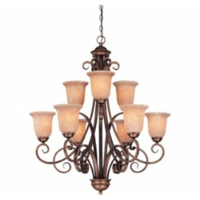 Dolan Lighting 2092-133 Medici - Nine Light Two Tier Chandelier