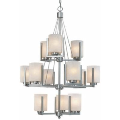 Dolan Lighting 2243-09 Uptown - Twelve Light Three Tier Chandelier