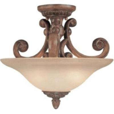 Dolan Lighting 2405-162 Carlyle - Two Light Semi-Flush Mount