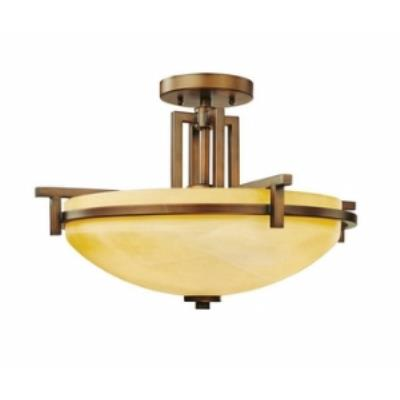 Dolan Lighting 2815 Roxbury - Three Light Semi - Flush Mount