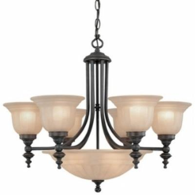 Dolan Lighting 665-78 Richland - Nine Light Chandelier