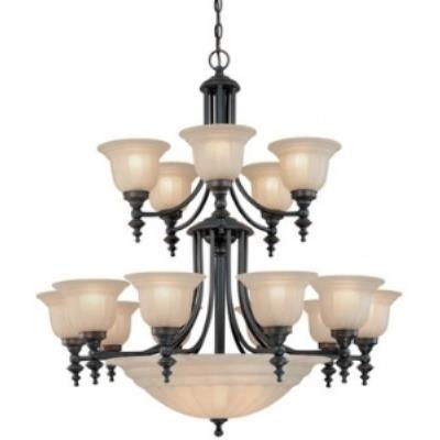 Dolan Lighting 668-78 Richland - Twenty Light Two Tier Chandelier