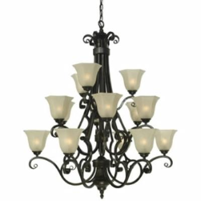 Dolan Lighting 773-34 Winston - Fifteen Light Three Tier Chandelier