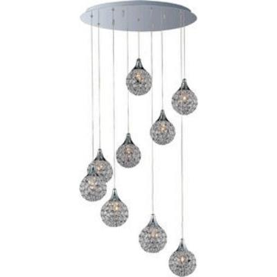ET2 Lighting E24020-20PC Brilliant - Nine Light Pendant