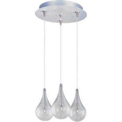 ET2 Lighting E94610-18SN Minx - Three Light RapidJack Pendant and Canopy
