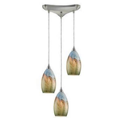 Elk Lighting 10077/3 Geologic - Three Light Pendant