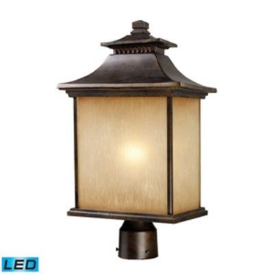 Elk Lighting 42184/1-LED San Gabriel - One Light Outdoor Post