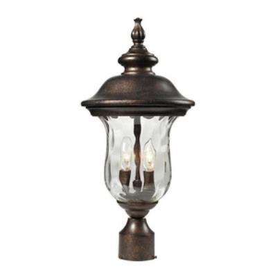 Elk Lighting 45023/2 Lafayette - Two Light Outdoor Post