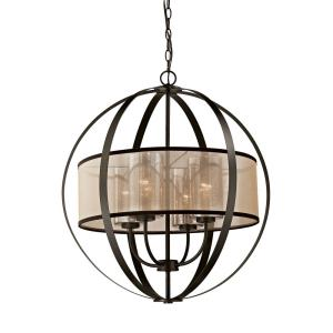 "Diffusion - 27"" Four Light Chandelier"