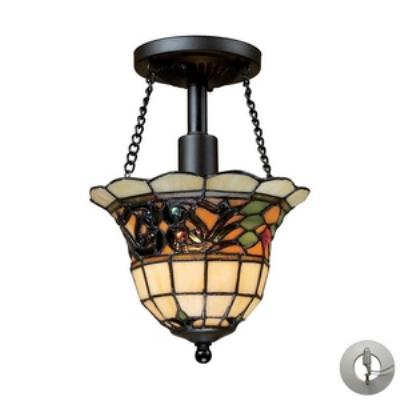 Elk Lighting 70021-1-LA Tiffany Buckingham - One Light Semi-Flush Mount