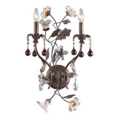 Elk Lighting 7043/2 Cristallo Fiore - Two Light Wall Bracket