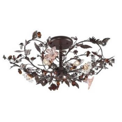 Elk Lighting 7046/3 Cristallo Fiore - Three Light Semi Flush Mount