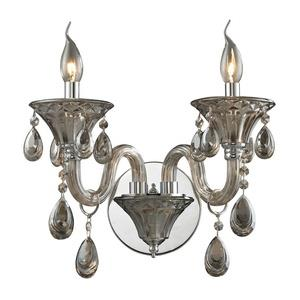 Formont - Two Light Crystal Wall Sconce