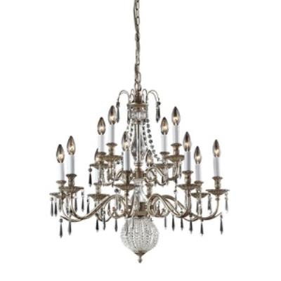 Elk Lighting 82021/8+4 Hereford - Twelve Light Crystal Pendant