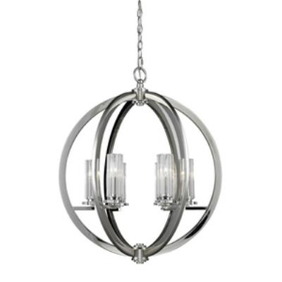 Elk Lighting 83001/6 Lindisfarne - Six Light Crystal Pendant