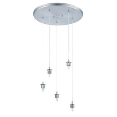 Forecast Lighting FA0063836 Sparkle 5-light pendant holder in Satin Nickel finish