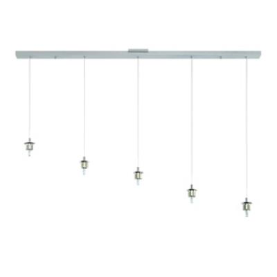 Forecast Lighting FA0066836 Sparkle 5-light pendant holder in Satin Nickel finish
