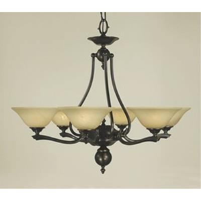 Framburg Lighting 7996 Fin De Siecle - Six Light Chandelier