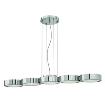 Fredrick Ramond Lighting FR41435PAL Broadway - Five Light Linear Chandelier